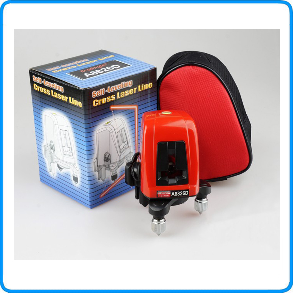 A8826D , 360degree self- leveling Cross Laser Level 1V1H Red 2 line 1 <strong>point</strong> HOT SALE