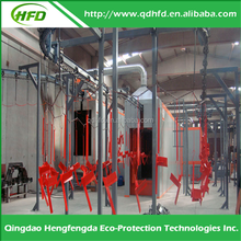 2016 Alibaba Express Hengfengda Auto/Manual electrostatic powder coating spray line with shot blasting pretreatment