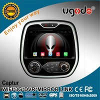 ugode 9 inch android 4.4/5.1 car radio dvd gps for renault captur