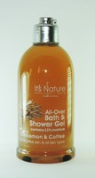 It's Nature - Natural Anti-Aging with Dead Sea Minerals, Bath & Shower Gel 33% Moisture Cinnamon and Coffee - All Skin Types