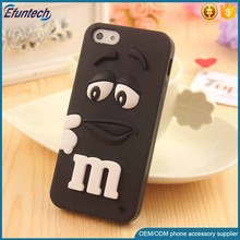 Low price phone accessory M and M chocolate bean soft silicone mobile phone case for iphone 6s