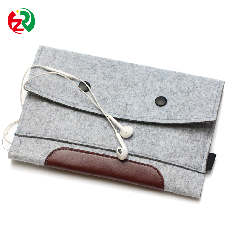 Felt Sleeve Carrying bag, waterproof durable felt notebook case with two button
