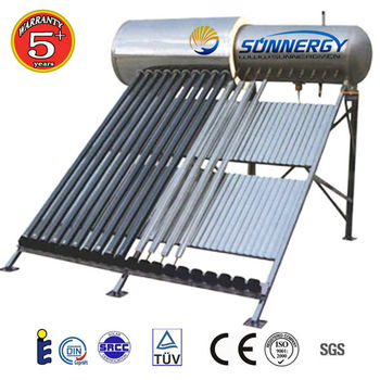 Thermosiphon copper coil pressure solar water heater price 200L