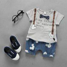 YF7612 summer 2016 latest design children clothes bow baby suit