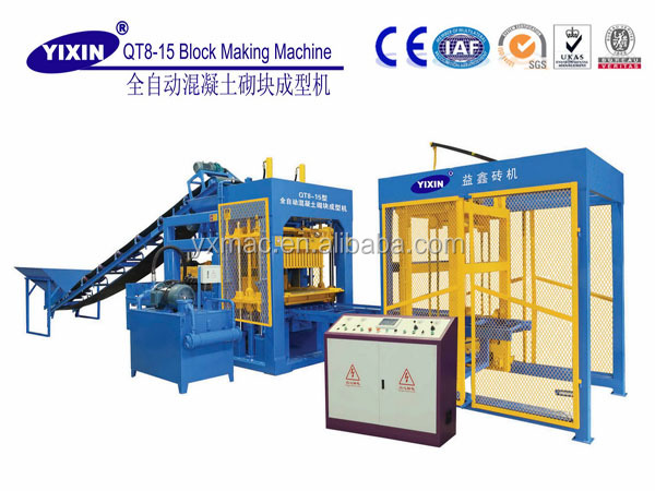 QT8-15 Fully automic fly ash lightweight Autoclaved Aerated Concrete AAC block making machines using material cement/sand/flyash