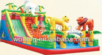 pvc articulated anime figure/inflatable animal slide/inflatable playground