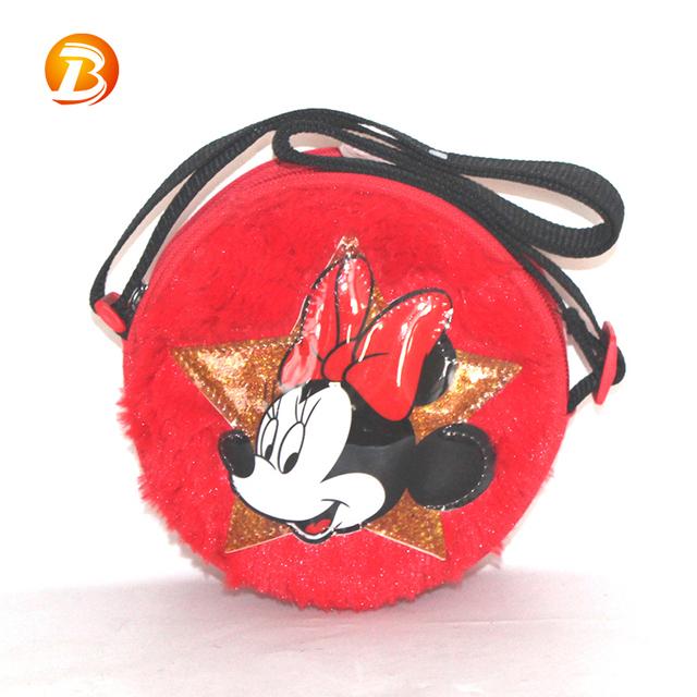 Fashion Small Cute School Adjustable Plush Shoulder Children Messenger Bag