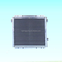 screw air compressor parts evaporative air cooler fan heat exchanger cooling radiator aluminum oil cooler