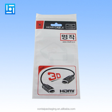 euro hanging hole opp plastic bags for balloon packing custom printed