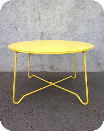 Industrial Furniture Cheap coffee Table yellow