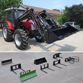 Professional 120hp agricultural tractor with front end loader4 in 1 bucket for Australia