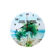 MDF custom decorative modern bathroom wall clock for promotion