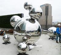 Good Quality large hollow stainless steel sculpture ball