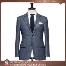 Top Quality Notch Lapel Super 140s Wool Suit Men Dress Sample