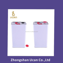Rectangular Metal Tin Can, 5L tin can for Engine oil, 5L tin can for chemical
