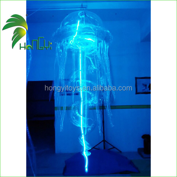 Clear Hanging LED Lighting Inflatable Decoration Jellyfish Balloon , Inflatable LED Balloon For Party