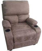 HOT SELLING PUSH BACK RECLINER GR-6510, CHEAP RECLINER SINGLE SOFA WITH CUP HOLDER