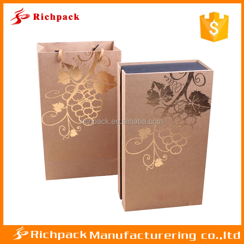 Luxury decorative wine box covers competitive price wine box for gift