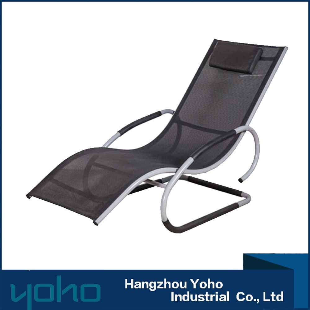 Aluminum beach sunlounger chair outdoor pool lounge chair patio sun lounger
