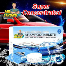 OEM hot sale herbal ingredients car shampoo tablet for UK market
