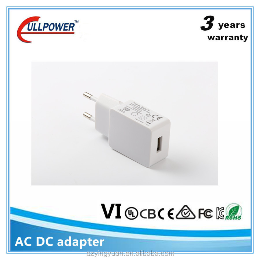 UL certificated 5V 2.1A single usb charger