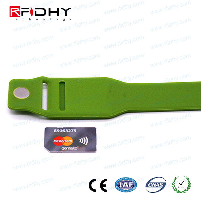 Vibrant colors QR code printing rfid festival wristbands for Cashless Payments