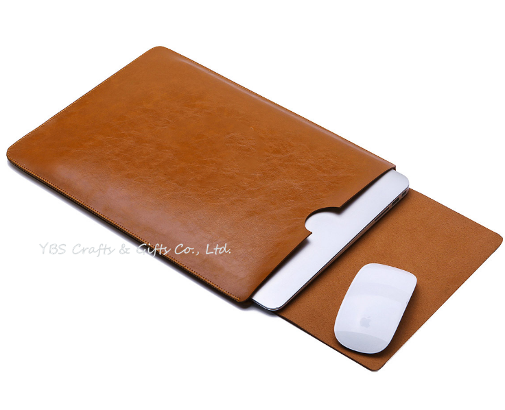 flip leather laptop sleeve for Mac book air pro series