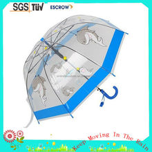 Hot Sale Transparent And Clear Poe Kid Umbrella citi kitty Umbrella