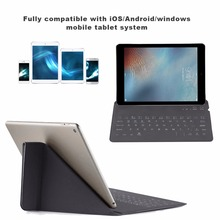Super Lightweight Wireless Bluetooth V3.0 Dust-Proof Keyboard PC Mobile Phone Silence Design PU Leather Keyboard Black