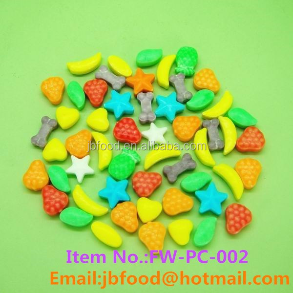 Funny shape fruit flavor tablet candy in bulk