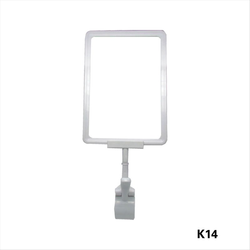 plastic clip display stand/plastic poster frame/plastic advertisement frame