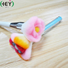 Flower shape makeup brush pink with long handle use as decoration beauty gift