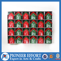 Wooden Christmas advent calendar chocolate box