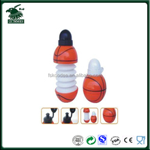 Promotional gift basketball shaped foldable sport water bottle