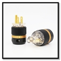 High Transparent HIFI AC US Gold Plated Power Plug Male IEC Female Connector