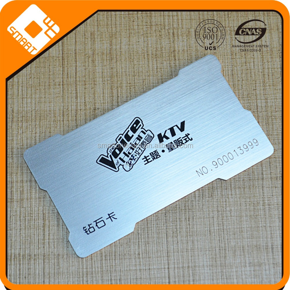 Full Color Set printing Brushed Plastic Silver Card Manufacturer In Shenzhen