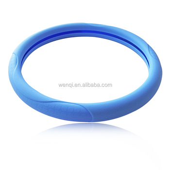 wholesale designer all size shrink colorful silicone steering wheel cover with lowest price