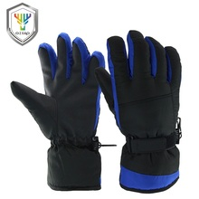 Nylon polyester heated ski gloves water proof