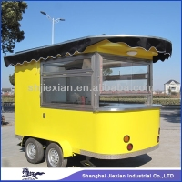 CE ISO9001 OEM mobile street fast food vending trailer/kitchen/van/kiosk with frozen yogurt machine for sale/coffee cart