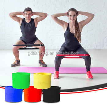 2017 Best selling 4 level Gym exercise stretch latex resistance band, loop band set