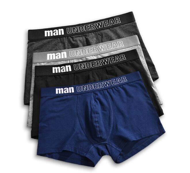 Custom pattern printed spandex cotton boxer private label underwear with jacquard logo