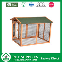 mobile wood farm hen house with large run