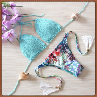 Hot selling triangle super push up bikini