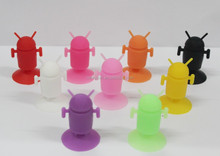 2015 Android robot mobile phone accessories silicone phone hoder for i phone