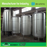 1000 L mirror polish single layer domed lid and bottom food grade stainless steel tank
