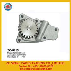 Engine Parts for 4D95L Oil Pump 6209-51-1700 21mm