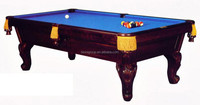 Restored Antique Pool Table 8ft Slate Billiard For Sale