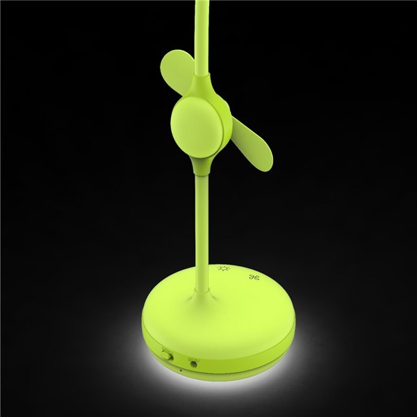 led desktop lamp with touch fan for working and reading