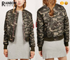 Custom camouflage thermal ma1 camo bomber jacket for women