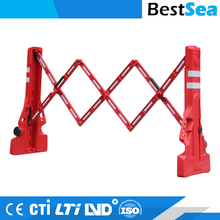Plastic expandable road safety barrier portable, 2 Meter rubber folding safety barriers
